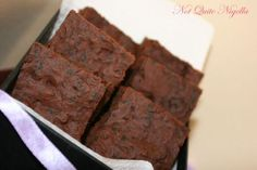 Deceptively Delicious Brownies with carrot and spinach puree.  Sounds kind of gross, but think I might try it.
