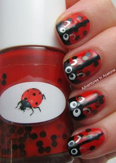 Adventures In Acetone: The Nail Junkie Ladybug + Nail Art!