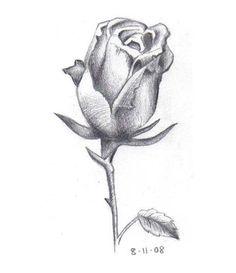wenn sie eine sch ne rose mit bleistift einfach zeichnen. Black Bedroom Furniture Sets. Home Design Ideas