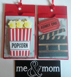 Gift Card Holder for movie Tickets on Etsy, $4.99
