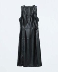 FAUX LEATHER DRESS from Zara