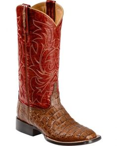 Lucchese Handmade 1883 Women's Georgia Hornback Caiman Cowgirl Boots