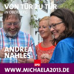 Von Tür-zu-Tür mit Andrea Nahles