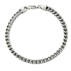 """Men's Stainless Steel Wide Foxtail Bracelet, 9"""" Amazon Curated Collection. $23.00. Made in China. Stainless steel construction offers lasting shine. Save 34% Off!"""