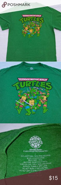 TURTLES T-shirt Teenage Mutant Ninja Turtles T-shirt from Nickelodeon. Men's Large. In excellent used condition. From a smoke free home. Make an offer! Vintage Shirts Tees - Short Sleeve