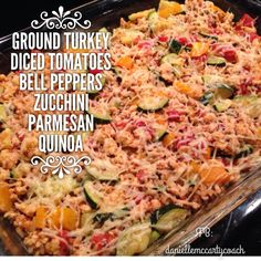 Yummy 21 day fix approved casserole! If you're looking for a health coach that can inspire you and motivate you to be your best self then look me up at www.musclemommyfitness.com or on facebook at www.facebook.com/daniellemccartycoach