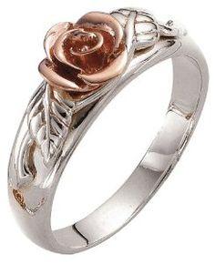 Clogau Gold Silver & 9ct Rose Gold Royal Roses Ring: Amazon.co.uk ...