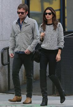 Lily and Caleb Lily Aldridge Husband, Lilly Aldridge, Mom's Day Out, Cute Celebrity Couples, Black High Boots, Mom Day, Fashion Couple, Professional Outfits, Thigh Highs