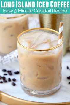 This deliciously boozy Long Island Iced Coffee is every coffee lovers dream! - This deliciously boozy Long Island Iced Coffee is every coffee lovers dream! The recipe is easy to - Alcoholic Coffee Drinks, Iced Coffee Drinks, Coffee Drink Recipes, Easy Drink Recipes, Alcohol Drink Recipes, Yummy Drinks, Cocktail Recipes, Crack Coffee Recipe, Summer Recipes
