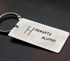 Hogwarts Alumni Harry Potter Keychain Hand by sierrametaldesign, $24.00