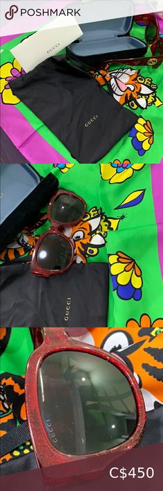 Gucci sun glasses Mint condition authentic 'ember red' Gucci sunglasses with official purchase card, dust bag, and case Gucci Accessories Sunglasses Oval Sunglasses, Gucci Sunglasses, Oakley Sunglasses, Sunglasses Women, Micheal Kors Handbag, Handbags Michael Kors, Gucci Accessories, Sunglasses Accessories, Purchase Card