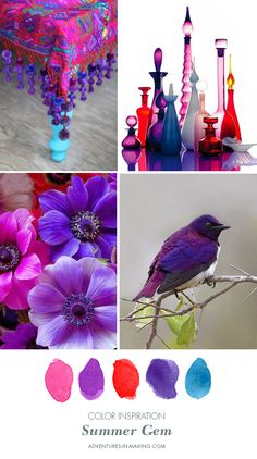 COLOR INSPIRATION: Summer Gem | http://adventures-in-making.com/color-inspiration-summer-gem/
