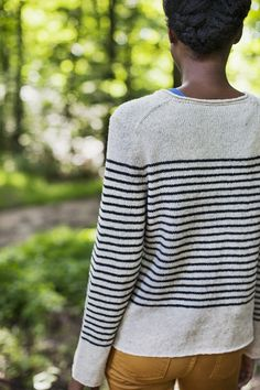 delicate striped sweater, mustard skinnies