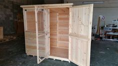 Amazing Handmade Bespoke Rabbit Shed with Opening Windows and Inner Mesh Door Handmade By Boyles Pet Housing