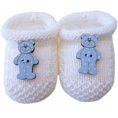 f058d2541 Sapatinho de Tricô para Bebê Ursinho Sapatinhos De Bebe, Sapatilhas,  Sapatinho De Trico,
