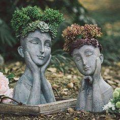 Garden Crafts, Garden Projects, Garden Art, Indoor Garden, Flower Vases, Flower Pots, Flowers, Plantas Indoor, Sculpture Art