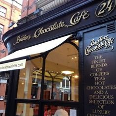 Butler's Chocolate Cafe - Dublin Ireland. In cool and rainy Dublin, Butlers Chocolate Café has been keeping visitors warm with their large selection of hot chocolates, available in over ten flavors. You can choose from milk chocolate, white chocolate, dark chocolate, praline, chili, almond, peppermint, coconut, marshmallow, and more. Throwing in a little Irish cream probably wouldn't hurt either.