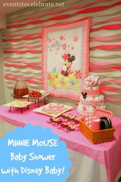 Great Minnie Mouse Baby Shower   Themed Decorations, Food And Fun Games With  Disney Baby Products