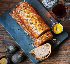 Contains pork – recipe is for non-Muslims only Think of this as pork Wellington with the herby punch of Toulouse sausage wrapped in flaky pastry. A great centrepiece for a gathering with family and friends Sausage Wrap, Sausage Rolls, Baked Sausage, Sausage Recipes, Pork Recipes, Savoury Recipes, Pork Wellington, Pork Mince, Pork Sausages