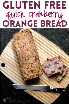 Are you ready to try this next-level gluten free cranberry orange quick bread? Aside from chopping the cranberries (and nuts if you're using them), the recipe practically makes itself. There's no yeast, so no rise time, you mix it up almost like cookie dough or cake batter, scoop it into the pan, smooth the top and let the oven do the rest. #cranberryorangebread #cranberryorangebreadrecipe #cranberryorangebreadhealthy #cranberryorangebreadeasy #cranberryorangebreadglutenfree Quick Bread Recipes, Healthy Gluten Free Recipes, Whole 30 Recipes, Nutritious Breakfast, Healthy Breakfast Recipes, Brunch Recipes, Quick And Easy Breakfast, Best Breakfast, Rise Time