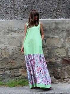 Got a long tee or short knit dress? Cut off a hem, insert soft skirt, reattach hem.