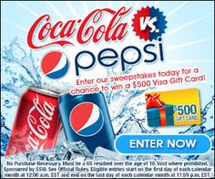 Pepsi or Coke? Tell us and Win $500! (US only)