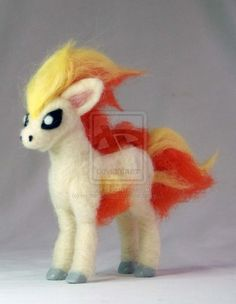 Needle Felted Ponyta Pokemon by *The-GoblinQueen on deviantART
