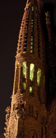 La Sagrada Familia. This photo was taken on April 27, 2010 in La Dreta De L'eixample, Barcelona, Catalonia, ES, by Julien ERRERA,