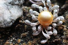 Beautiful gold pearl