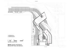 MAXXI Museum / Zaha Hadid Architects    second floor plan