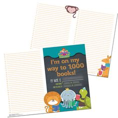 Demco® Upstart® Books Before Kindergarten Reading Record with Lines 1000 Books Before Kindergarten, Kindergarten Reading, Reading Record, Early Literacy, Kids And Parenting, Parents, Track, Colorful, Ideas