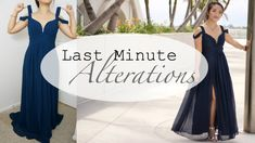 Prom Dress Alterations (Quick Fixes) How to alter the size of your dress ?