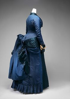 Dress - early 1880s - American - silk