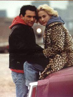 "Christian Slater y Patricia Arquette en""Amor a Quemarropa"" (True Romance), 1993"