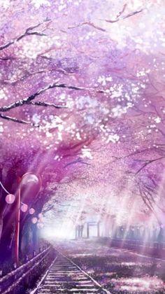 Anime Stock Photo - Landscape - # Scenery- Kho Ảnh Anime – Phong Cảnh – Phong Cảnh Anime Stock Photo – Landscape – # Landscape – Page 3 – Wattpad - Fantasy Landscape, Landscape Art, Anime Cherry Blossom, Cherry Blossoms, Anime Scenery Wallpaper, Tree Wallpaper, Unique Wallpaper, Beautiful Wallpaper, Tree Illustration