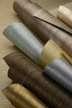 grass cloth - the dark brown one is perfect....color pallet for living room?