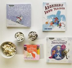 """10 Likes, 1 Comments - Jess B (@playdatechroniclesbooksandmore) on Instagram: """"Snowman snacks and favorite reads for this #snowday in Texas! #snow #snowing #bookstagram…"""""""