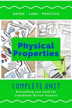 Physical Properties of Matter Activities Bundle 5th Grade Science, Science Student, Elementary Science, Teaching Science, Science Activities, Sorting Activities, Science Vocabulary, Science Lessons, Physical Properties Of Matter