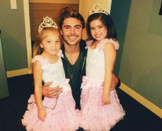 Zac with sophia grace and rosie<3
