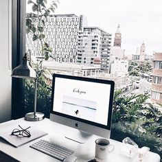 View #workspacegoals  Regram via: @lichipan in Australia   Starting the work week with a view  Today we peek into the workspace of lifestyle blogger Li-Chi + out over the rooftops of Sydney  If you've long loved Li-Chi's beautiful feed of travel snaps, foodstagrams + flatlays…well, this is where the magic happens☝️☝✨  Thanks Li-Chi for inspiring us with your dreamy workspace up in the trees
