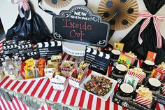 All you need for a Family Movie Night Party! From treats, snacks and more... and don't forget the tickets and decor! Take the party inside or out.