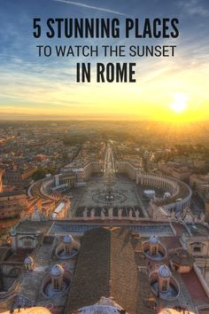 Check out 5 stunning places to watch the sunset in Rome. Discover romantic and peaceful spots to enjoy the amazing golden glow of the eternal city at the end of the day. Rome Vacation, European Vacation, European Travel, Italy Travel Tips, Rome Travel, Sicily Travel, Best Places In Rome, Places To Travel, Places To Go