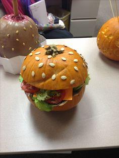 Pumpkin Decorating #Halloween #Burger