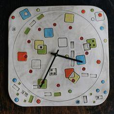 Keramické čtvercové hodiny