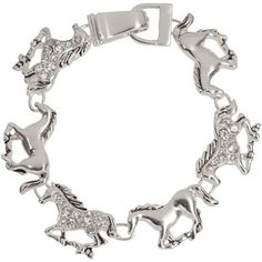 Heirloom Finds Trendy Silver Tone Rhinestone Horse Pony Charm Bracelet With Magnetic Clasp - http://www.amazon.com/Heirloom-Finds-Rhinestone-Bracelet-Magnetic/dp/B00GU1J31A