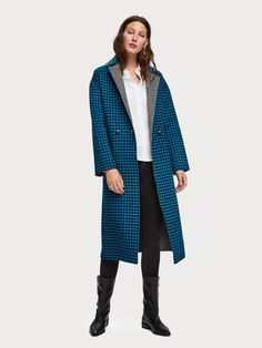 Scotch & Soda F/W 2019 - Reversible Wool Blend Coat Jackets For Women, Clothes For Women, Gingham Check, Outerwear Women, Coat, Double Breasted, Wool Blend, Fashion Forward, Shopping