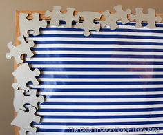 14 Unusual and Incredibly Fabulous Bulletin Board Borders ~ have students colour each puzzle piece then decorate ~ From mrskingrocks.blogspot.ca