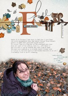 Layout by mirjam | Nuts about Fall | BYOC Oct 2016 | Pink Reptile Designs at The Lilypad