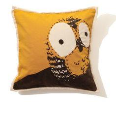 India Rose India Rose Owl Cotton Pillow