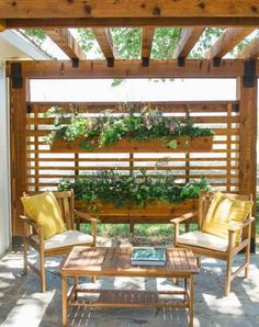 The wooden pergola is a good solution to add beauty to your garden. If you are not ready to spend thousands of dollars for building a cozy pergola then you may devise new strategies of trying out something different so that you can re Diy Pergola, Pergola Metal, Outdoor Pergola, Pergola Plans, Backyard Patio, Backyard Landscaping, Patio Stone, Flagstone Patio, Concrete Patio